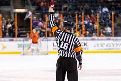 """Kansas City Mavericks vs. Colorado Eagles, December 16, 2017, Silverstein Eye Centers Arena, Independence, Missouri.  Photo: © John Howe / Howe Creative Photography, all rights reserved 2017. • <a style=""""font-size:0.8em;"""" href=""""http://www.flickr.com/photos/134016632@N02/25271491848/"""" target=""""_blank"""">View on Flickr</a>"""
