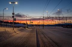 Waiting for the train (802701) Tags: 2016 201612 arctic arcticcircle december2016 europe kiruna polarnight sweden travel trainstation train