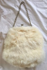 Vintage White Rabbit Fur Muff & Hat (profkaren) Tags: vintage rabbitfur muff hat