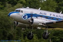 Douglas DC-3 -  la Ferté-Alais-7586 (_OKB_) Tags: laferte2014 france nikon 7020028 d7100 war warbirds aviation aircraft airshow panning avion avia air sky pilot