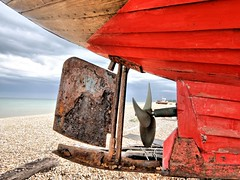 Stern view (Conundrum37) Tags: walmer beach boat fishing propeller rusty rudder red sea