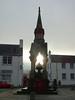 Sun behind Atholl Memorial Fountain, Dunkeld, 2017 Dec 22 (Dunnock_D) Tags: uk unitedkingdom britain grey cloud cloudy sky dunkeld square road houses atholl memorial fountain sun sunlight