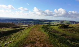 Western ramparts of Cissbury Ring 1