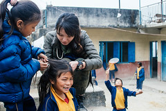What Happens During Lunch Break (酷哥哥) Tags: lunch nagarkot nepalese children nepal