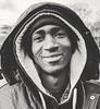 Kumba, from Kenya.   Street portrait.   Montmartre, Paris. 1 January 2018. (Andrew M Gilmore) Tags: street portrait phoneportrait paris france montmartre blackandwhite sacrecoeur bw people newyearsday 2018 newyear