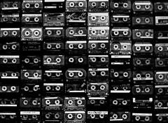 Oldschools K7 (VinZo0) Tags: tape k7 record rewind oldschool macro repetition black noir objet things wall mur musique music collection
