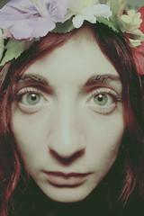 (universeobserver) Tags: portrait selfportrait flowercrown girl redhair eyes model face canon canonxsi beautiful love