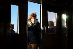 Ferry (dtanist) Tags: nyc newyork newyorkcity new york city sony a7 konica hexanon 40mm siferry staten island ferry boat tourists tourist door