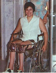 Polio Girl 1962 (jackcast2015) Tags: handicapped disabledwoman crippledwoman wheelchair paralysed poliogirl legbraces calipers polio