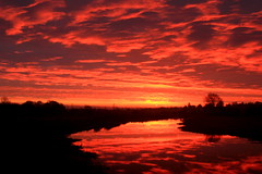 Worth the 4am start (Biscuits1960 (DaveG)) Tags: sunrise river reflection clouds winter