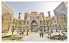 Samarqand UZ - Registan Ulugbek-Madrasa 08 (Daniel Mennerich) Tags: silk road uzbekistan registan samarqand history architecture hdr