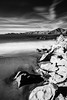 Baker Beach - San Franciso, CA (Aaron Sesker) Tags: 6d achromatic bakerbeach beach blackandwhite ca california canon dramatic emotion greyscale infrared ir landscape landscapes monochrome ocean rock rocks sanfrancisco sf slowshutter water wave waves
