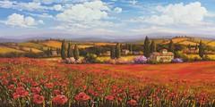 Papaveri in Toscana (Art of Fiorini Monica pittrice) Tags: papaveri fiorinimonicapittrice livorno arte tuscany landscapesoftuscany estate