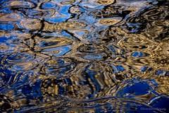 Twilight Zone (Kerstin Winters Photography) Tags: newmexico albuquerque flickrnature flickr nikkor nikondigital nikondsl abstrakt abstract gold blau blue wasser water reflektion reflection wellen ripples