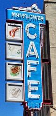 Mayflower Cafe- Jackson MS (3) (kevystew) Tags: mississippi hindscounty jackson us49 us51 us80 sign mayflower cafe