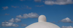 Form und Farbe 2 (krieger_horst) Tags: blau mexiko weis wolken himmel dach kuppel
