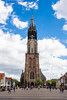 Nieuwe Kerk (Stauromel) Tags: delft nieuwekerk nuevaiglesia iglesia holanda netherlands clouds cielos nubes markt plaza gotico protestantismo orangenassau alquimiadigital arquitectura stauromel skyline street fuji fujixt2