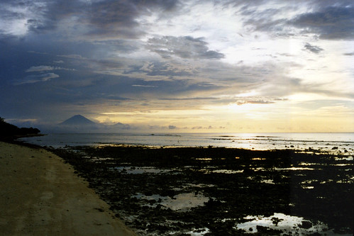 Sunset from Nusa Tiga Beach, Gili Trawangan, Lombok, Indonesia