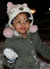 Eating snow (cynthiarobb) Tags: