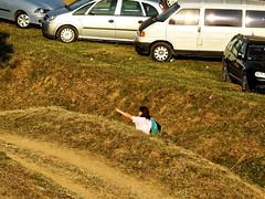 Show me (Adi Berger Photo) Tags: cars grass inside lady women half nikon strange street streetphotography
