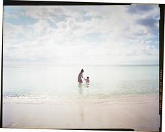 Wading, Panama City Beach, Florida. November, 2017. (JunPx) Tags: large format toyoview 4x5 kodak ektar 100 film photography photographer panama city beach florida vacation junpx juan pulido sheet clouds ocean gulf mexico