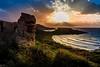 nice place (K.H.Reichert [ not explored ]) Tags: gebirge goldenhour ruine sunset mear sonnenuntergang sky mellieha nikond50 rocks himmel beach ocean felsen strand goldenstunde sea decay malta seascape abonded coast wolken mittelmeer