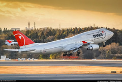 [NRT.2009] #Northwest.Airlines #NWA #B744 #N669US #Sunset #DL747Farewell #AWP (CHR / AeroWorldpictures Team) Tags: northwest airlines boeing 747451 msn 24224 803 eng 4x pw pw4056 reg n669us rmk fleet number 6309 history aircraft first flight built site everett kpae delivered northwestairlines nw nwa leased from att capital services config cabin c65y338 tsf deltaairlines dl dal configured reconfigured c48w42y286 planespotting plane aircrafts airplane b747 b744 pax sunset tokyo narita nrt japan us transpacific transcon nikon d80 nikkor lenses 70300vr raw lightroom awp 2009 1990 rjaa dl747farewell
