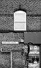 outlook (Harry Halibut) Tags: 2017©andrewpettigrew allrightsreserved contrastbysoftwarelaziness noiretblanc blackwhite blancoynegro blanc weiss noire schwatz bw zwart wit bianco nero branco preto blackandwhite imagesofsheffield images sheffieldarchitecture sheffieldbuildings sheffield south yorkshire crowther place sign post window bricks specials shop speed road brickwork sheff1709063722a