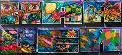 Graffiti Hall of Fame - Harlem Collage (TATS CRU) (GLVF) Tags: harlem collage nyc ny usa montage street art streetart graffiti graff graf tag coloured colors colours couleurs project east spanish graffitihalloffame jackierobinsoneducationalcenter ray rodriguez stingray elbarrio tatscru