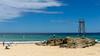 Summer Lovin' (ImagesByLin) Tags: redheadbeach summer beach sand sharktower rockformation swimming fun sunshine swimmers flags blue green