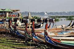 DSC_5715 (Kent MacElwee) Tags: burma myanmar yangon rangoon mandalay asia sea southeastasia boats colorful amarapura ubeinbridge bridge historic