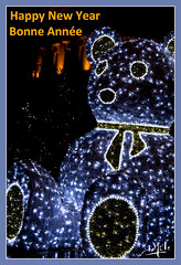 Bonne année 2018 / Happy New Year 2018 (christian_lemale) Tags: illumination tours place jean jaurès ours bear france nikon d7100