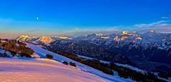 Moonrise (sylviafurrer) Tags: mountain berge alpen alps schnee snow moon mond abendstimmung twilight view aussicht