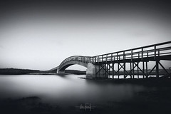 A new return (RuiFAFerreira) Tags: landscape waterscape monochromat monochrome monotone esmoriz portugal black bw blackwhite white exterior wide uwa canon bridge lagoon creative edit beauty efs1018mmf4556isstm longexposure long light exposure le
