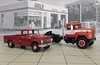 Red Internationals, 1/64 (PAcarhauler) Tags: ih international truck tractor pickup