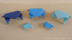 3/365 Jumping Frogs (origami_artist_diego) Tags: origami origamichallenge 365days frogs paperfolding papiroflexia dobradura