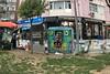 Garbage monster eats woman ;-) (JB Fotofan) Tags: istanbul türkiye turkey türkei streetphotography streetfoto iphone streetart