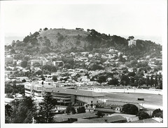 Alexander Park Raceway Mt. Eden in the background. Auckland City