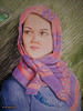 Drawing with colored pencil (m.hoseinjo) Tags: drawing colored pencil hijab iranian persian face beautiful bigeye