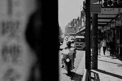 middleman (crosses) Tags: black white bw blackandwhite preto branco pb grey monochrome street people kyoto japan