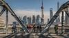 Bridge and Pudong skyline (Philipp Salveter) Tags: asia china shanghai pudong skyline skyscraper city urban metropolis river megacity