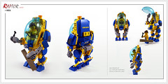 Raptor series: IKEA (Brixnspace) Tags: raptor walker frame powersuit suit lego moc toy biped space bot ikea