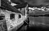 Kloster St. Georgen (Stein am Rhein) (adrianstadelmann) Tags: klosterstgeorgensteinamrhein rhein noiretblanc water wasser inselwerd steinamrhein dach architektur monochrome