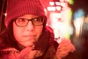illuminated (Jovan Jimenez) Tags: illuminated portrait hat cap winter lights red glasses sony a6500 6500 ilce nikkor nikon 50mm f12 metabones speedbooster manual bokeh shapes night light focal reducer ultra cinematic shape swirl swirly