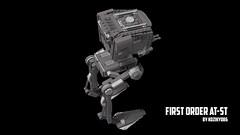 Lego Star Wars First Order AT-ST Michal Kozlowski #3 (kozikyo86) Tags: lego star wars atst first order 75201 75153 last jedi force awakens ldd moc mod gwiezdne wojny walker 75177 design designer