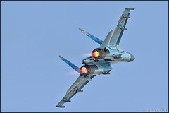 Sukhoi Su-27 (Pavel Vanka) Tags: sukhoi su27 ciaf czechinternationalairfest lkhk hradeckralove czech czechrepublic airplane plane aircraft airshow spotting spot spotter ukrainianairforce jet fighter flanker afterburner