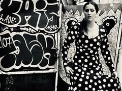 flamenco (Neta Gov) Tags: flamenco street graffitti telaviv dots spanish spanishdress bw streetphotography
