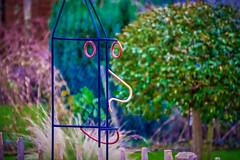 17-12-25 gesicht draht silh bok gart  dsc09061-1 (u ki11 ulrich kracke) Tags: c5 draht garten gesicht holzspäne kitsch komposition nah silhouette stillleben zaun