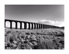 Ribblehead Viaduct (CJS*64) Tags: ribblehead viaduct settlecarlislerailway battymossviaduct panasoniclx100 panasonic lx100 cjs64 craigsunter cjs architecture uk unitedkingdom yorkshire blackwhite bw blackandwhite whiteblack mono monochrome