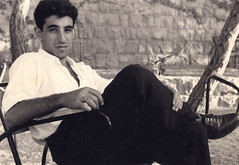 1952, Aley Lebanon: Papken at rest (maralina!) Tags: papken father papa dad père man youngman homme jeunehomme beirut beyrouth lebanon liban sepia bw blackandwhite monochrome vintage retro aley 1950s 1952